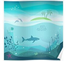 Tropical Sea Natural Landscape Poster