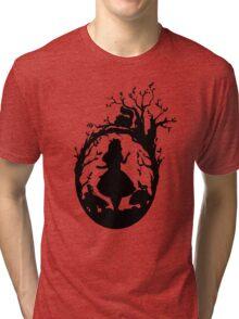 Silhouette - Alice In Wonderland Tri-blend T-Shirt