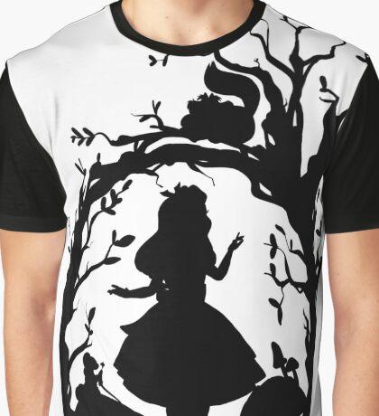 Silhouette - Alice In Wonderland Graphic T-Shirt