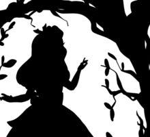 Silhouette - Alice In Wonderland Sticker