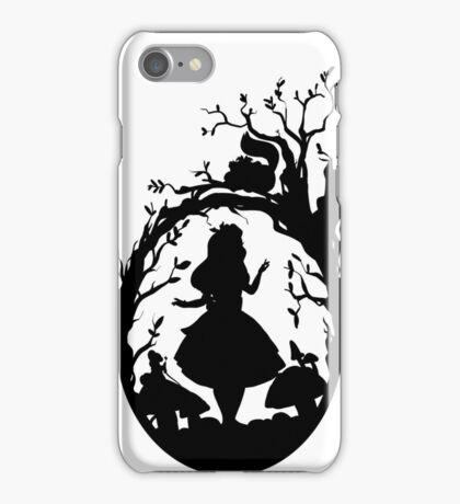Silhouette - Alice In Wonderland iPhone Case/Skin