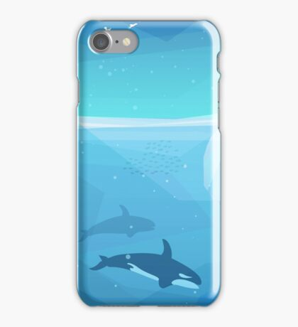 Landscape of northern and Antarctic life iPhone Case/Skin