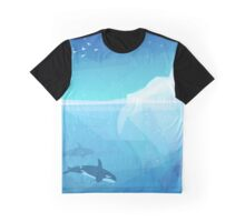 Landscape of northern and Antarctic life Graphic T-Shirt