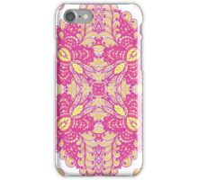 Pink ornamented squares iPhone Case/Skin