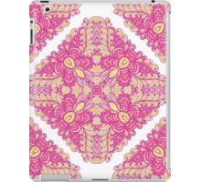 Pink ornamented squares iPad Case/Skin