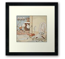 'And the Dish Ran Away with the Spoon' Framed Print