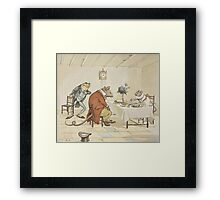 """""""Pray, Miss Mouse, will you give us some beer"""" Framed Print"""