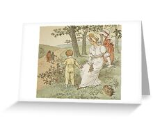 Walking to Mousey's Hall Greeting Card