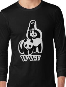 WWF panda parody Long Sleeve T-Shirt