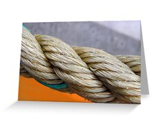 Colourful Nautical Rope Greeting Card