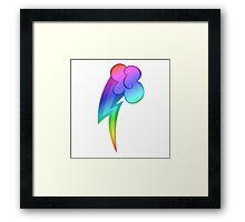 MLP - Cutie Mark Rainbow Special - Rainbow Dash V2 Framed Print