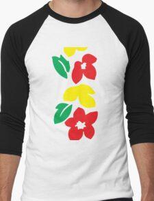 Rasta Flowers Men's Baseball ¾ T-Shirt