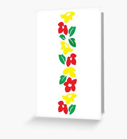 Rasta Flowers Greeting Card
