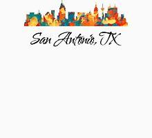 San Antonio Texas Skyline Womens Fitted T-Shirt