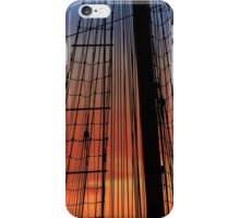 Mast and riggings from a vintage ship at sunset. iPhone Case/Skin