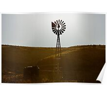 Windmill Water Pump Texas Poster