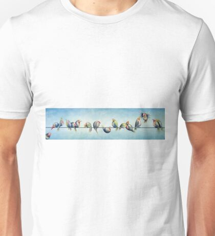 Finches On Parade Unisex T-Shirt