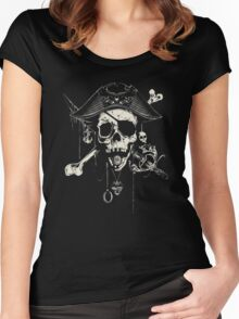 The Pirates Skull Women's Fitted Scoop T-Shirt