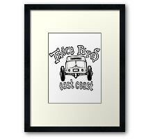 Twice Pipes Framed Print