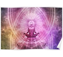Yoga Meditation Colorful Art Illustration Poster