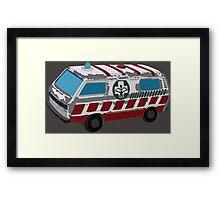 Old Vintage Retro Ambulance Toy Framed Print