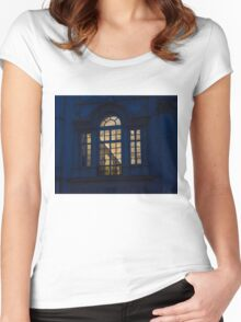 A Glimpse Through a Window - Piazza Navona, Rome, Italy Women's Fitted Scoop T-Shirt