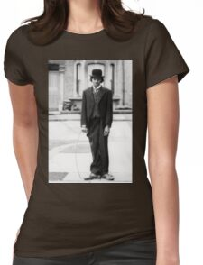 MJ - Charlie Chaplin Womens Fitted T-Shirt