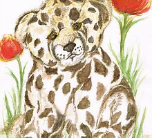 Young  Cub  Leopard by Teresa White