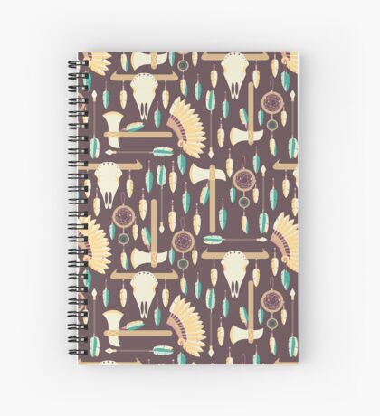 Indians Pattern Spiral Notebook