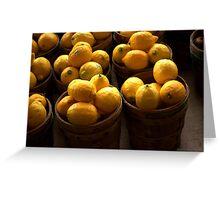 sunny lemon Greeting Card
