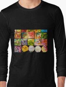 Colorful Glass Coaster Long Sleeve T-Shirt