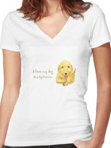 pet me Women's Fitted V-Neck T-Shirt
