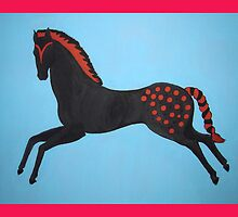 Painted Pony Pillow and Tote Bag by Shulie1