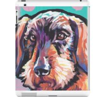 wire haired Dachshund Dog Bright colorful pop dog art iPad Case/Skin