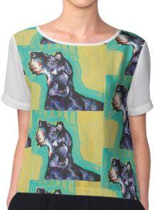 Dachshund Dog Bright colorful pop dog art Chiffon Top