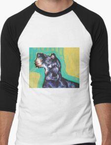Dachshund Dog Bright colorful pop dog art Men's Baseball ¾ T-Shirt