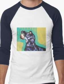 Dachshund Dog Bright colorful pop dog art Men's Baseball ¾ T-Shirt