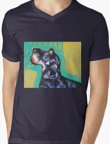 Dachshund Dog Bright colorful pop dog art Mens V-Neck T-Shirt