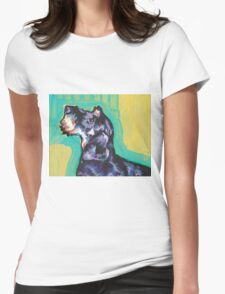 Dachshund Dog Bright colorful pop dog art Womens Fitted T-Shirt