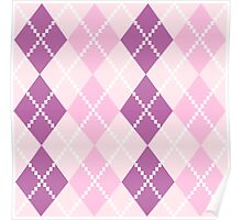 Argyle pattern in purple Shades Poster