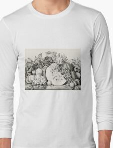 Garden orchard and vine - 1867 - Currier & Ives Long Sleeve T-Shirt