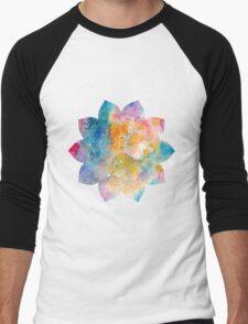 Lotus Flower 10 petals Men's Baseball ¾ T-Shirt