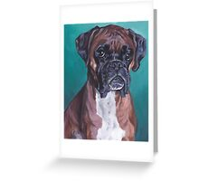 Boxer Fine Art Painting Greeting Card