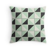 Black and Green Crazy Block Theme Print Pillow Throw Pillow