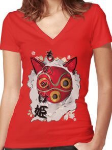 San Women's Fitted V-Neck T-Shirt