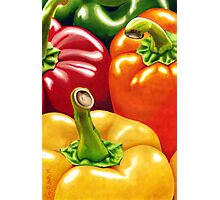 Rainbow of Peppers Photographic Print