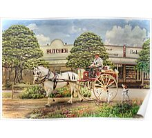 The Butchers Cart Poster