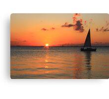 Cayman Sail Canvas Print