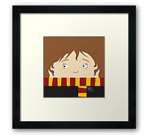 Hermione, harry potter Framed Print