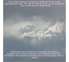 The Lords Prayer Photographic Print
